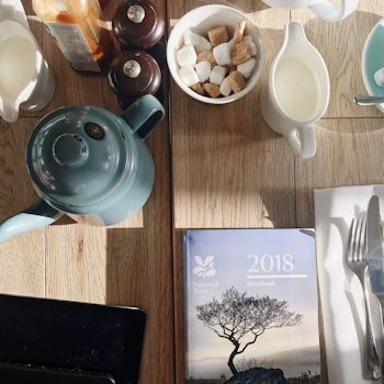 Breakfast at Watergate Bay Hotel and 2018 National Trust Manual