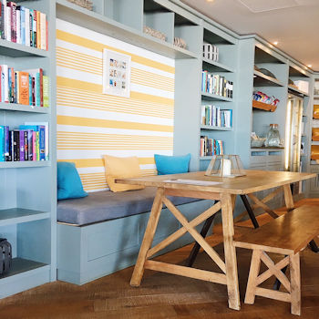 Library at the Watergate Bay Hotel