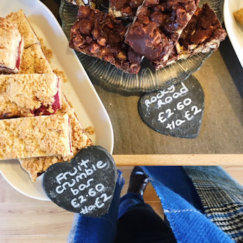 Rocky Road and Fruit Crumble Bar at Pierreponts in Goring and Streatley