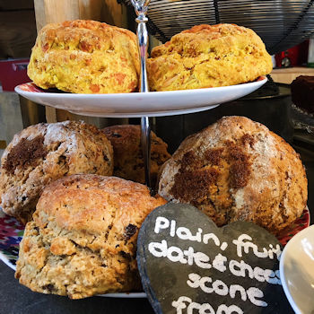 Traditional homemade scones at Pierreponts in Goring and Streatley