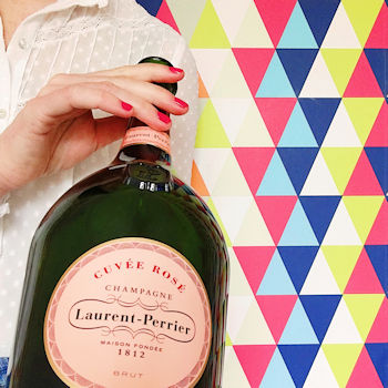 A magnum of Laurent-Perrier pink champagne