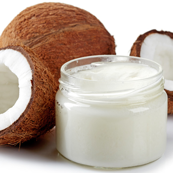 Coconuut oil, use cooking and sensitive skin