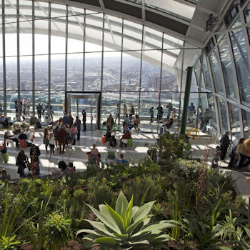 The Sky Garden at 20 Fenchurch Street, ten fabulous things to do this summer
