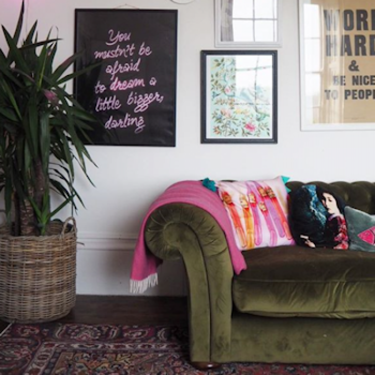 Sofa in the home of interiors influencer Lisa Dawson