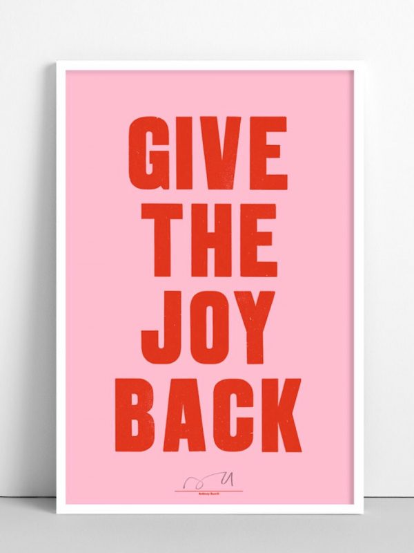 Anthony Burrill Give The Joy Back @notaboutthekids Christmas list